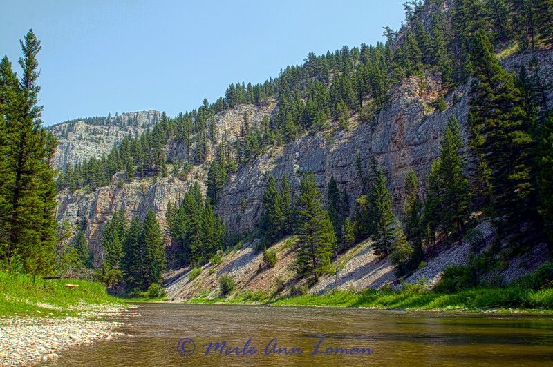 Montana, Smith River in July - Image 6311
