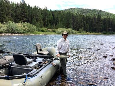 Tom on the Blackfoot River