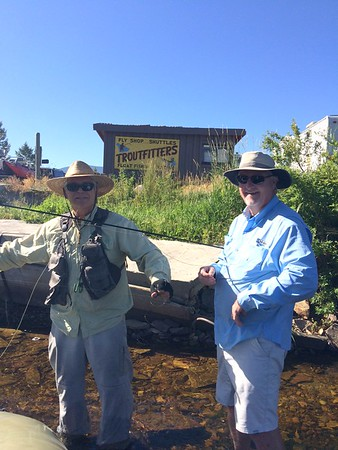 Jack and Dick at Troutfitters on the Big Hole River