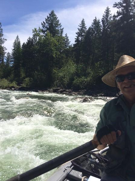 Jack navigating the Blackfoot River