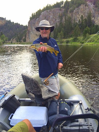 Dick with a trout on the Big Hole River