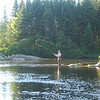 Flycasting on the Dead Diamond River, Second College Grant, New Hampshire