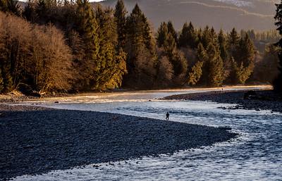 Steelhead Fishermen, Hoh River, 1/1/2016