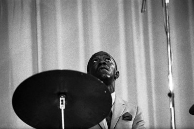 American jazz musician Art BLAKEY (drums, percussions).  New Jazzmen Formation.