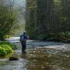 Tom enjoying some idyllic fishing on the Derbyshire Wye