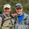Stuart Crofts and Tom Bell share a moment on the Wye...