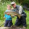 Fly caught common carp