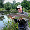 Cracking rainbow from a small still water..