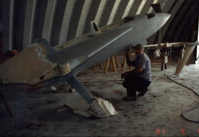 Harrison, Ark 1991. EZE getting it's 1st paint.