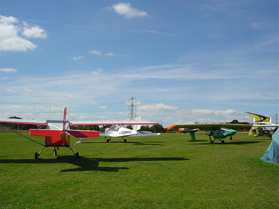 The microlights resting and Tanarg just arriving