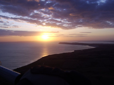 Sunset over the Isle of Wight