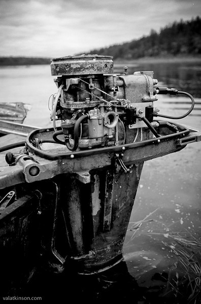 early boat motor on the ponoi river