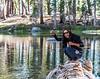 Tenkara caught brook trout, Yosemite National Park