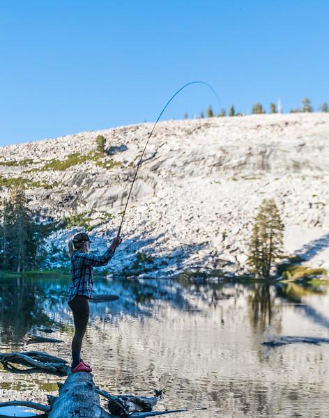 Tenkara fishing, Yosemite National Park