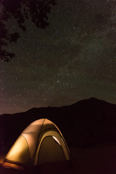 Milky Way over the South Fork canyon