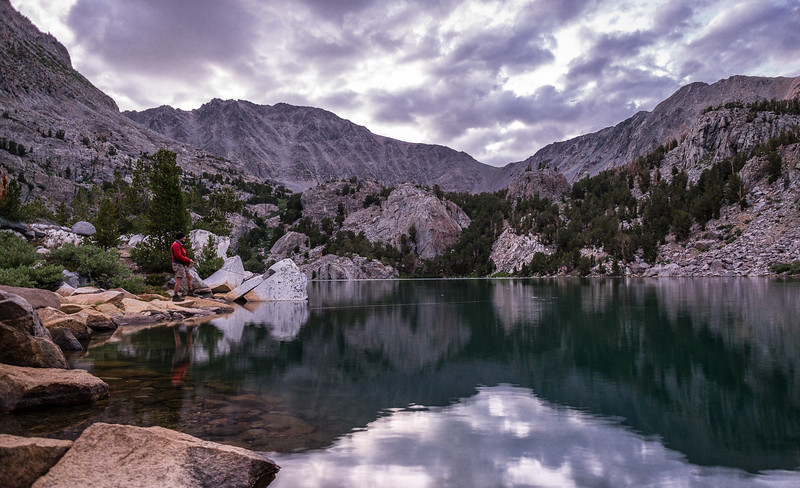 Evening fly fishing in the high Sierras