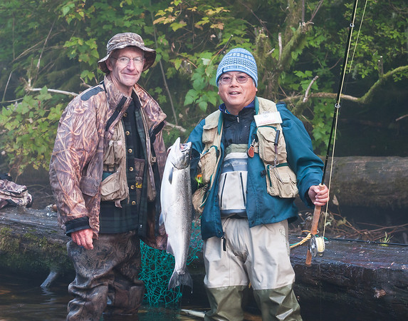 Ron, Don, and silver salmon from the Klawock River, Alaska