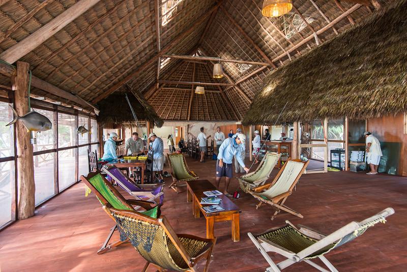 The new main lodge at Pesca Maya, on Ascension Bay, Quintana Roo Mexico