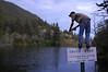 David stalking trout, Montana