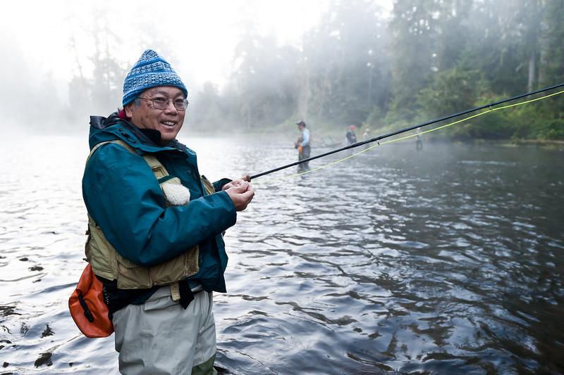 Don at the salmon hole, Klawock River, Prince of Wales Island, Alaska