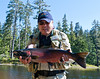 Sockeye salmon landed on 4x tippet by Don