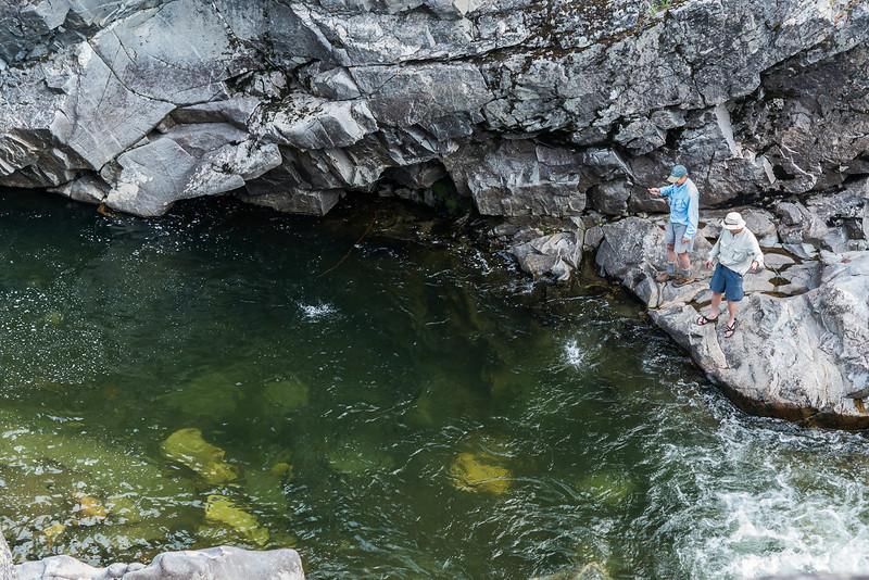 Hellroaring Creek canyon, stonefly hatch