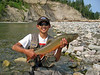 David with a large bull trout from a small stream in British Columbia