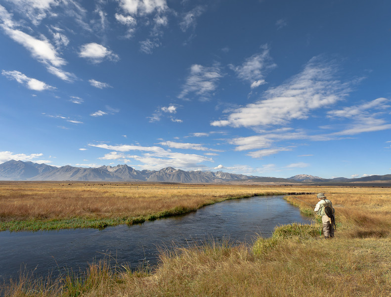 Linda Fishing the Banks of the Upper Owens River, CA