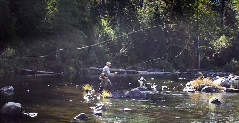 Jan-Ulco Casting on the Upper Sacramento River, CA