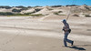 Bob W with Fly Rods on Sandy Beach