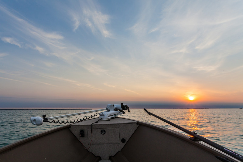 Heading out for a Day of Musky Fishing, Lake St Clair MI