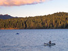 Two Fly Fishers, Evening Hex Hatch, Lake Almanor CA
