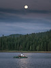 Fly Fishing the Hex Hatch under Full Moon, Lake Almanor CA