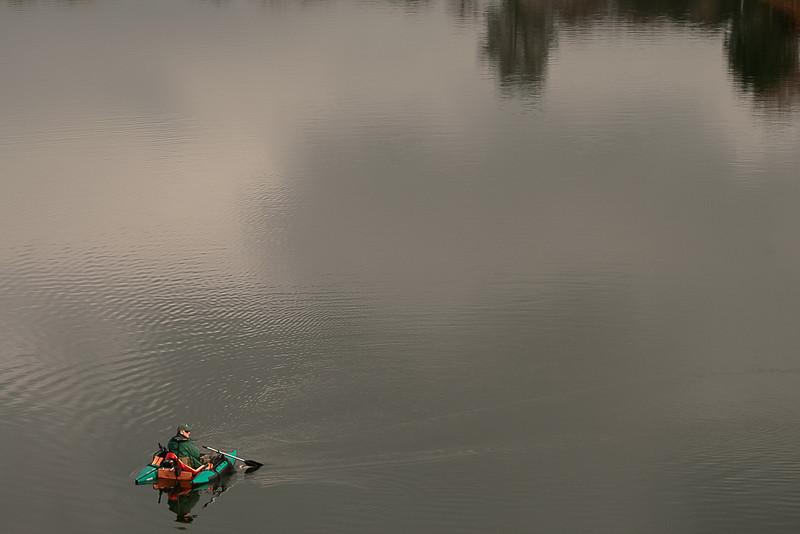 Searching for Rising Fish, Amador Lake, CA