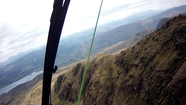 Just made it onto lowest bump and managed to scrape a way up the ridge onto main ridge of Tarmachan.