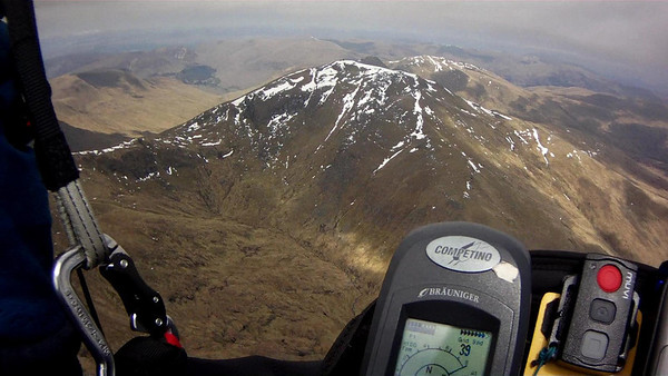 Got low making crossing to Tarmachan and had to get a second climb before crossing.