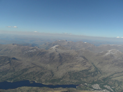 Loch Leven and Kinlochleven. Ben Nevis in the distance.