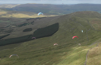 A busy Dodd fell ridge before lift off!