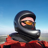 A 'rare' photo of self in flight mode ... new helmet!