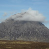 Early Sunday morning - Buchaille Etive Mor hides its head.