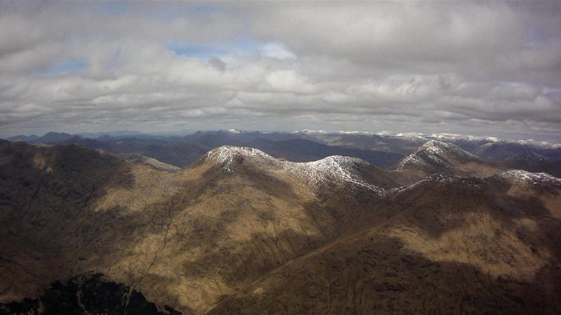 Sgurr Mor (on left) to Gairich on right.