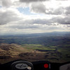 Heading more SE over moors and forest trigger lines .......... got a good climb to base then nothing on next long glide.  Landed near Lockerbie at about 60k.