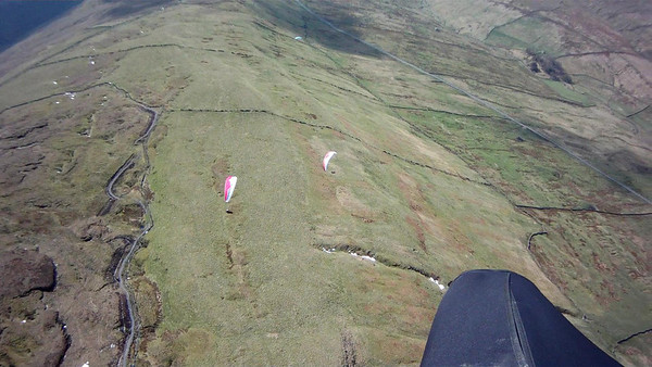 Blue glider missed a cracking thermal. Note new Drumaldrace track.