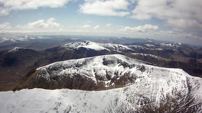 Snow capped peaks. Heading for Ben Starav .... far distance right.