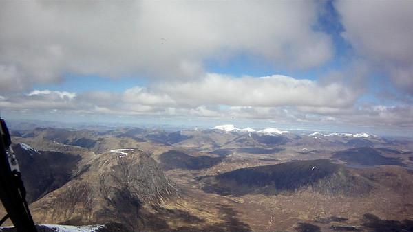 Looking back north towards Glencoe.