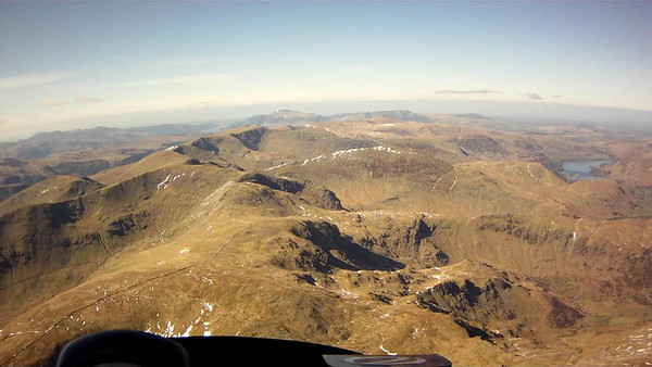Beyond Fairfield and across the south facing corries of Scandale Head.