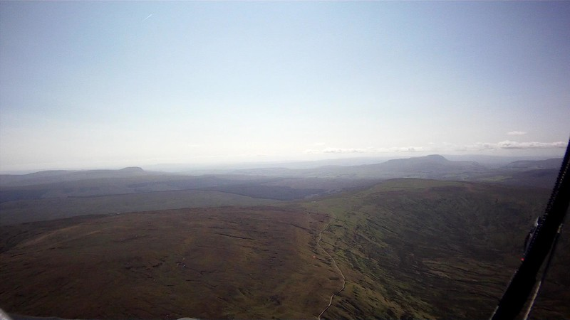 Looking south to PyG (left) and Ingleborough (right)