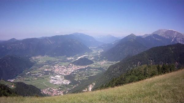 Kobala take off and Soca valley - Stol ridge in far distance centre