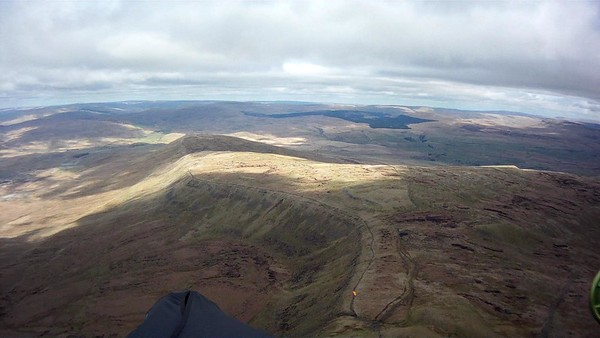 Looking north along the ridge. Took off far end in light winds.