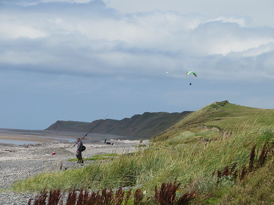 Was quiet until we arrived ......... just fisherman and beachcombers/gulls.